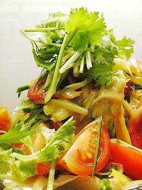 黄ニラと香菜のサラダ