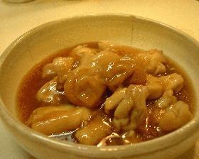 鶏の梅肉 治部煮風