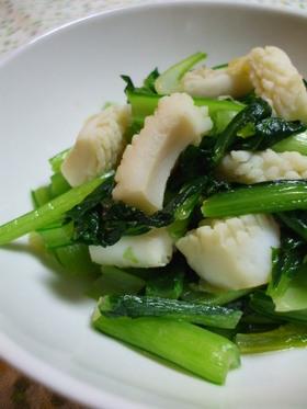 簡単ですぐに出来る!いか&小松菜の炒め物