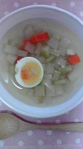 ルクルーゼ☆5分で皮ごと野菜エコスープ