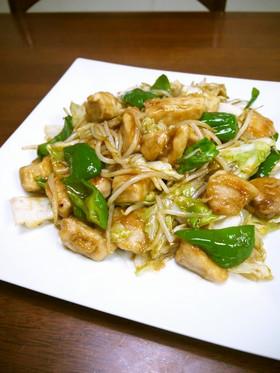 鶏むね肉と野菜のオイスター炒め♪