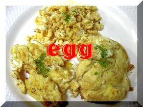 フライパンお掃除の卵焼き