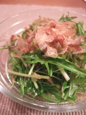 水菜とツナの和風サラダ