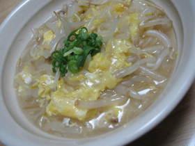 もやしの卵スープ