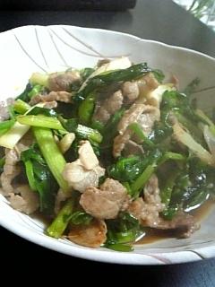 ✿ฺわけぎと豚肉の簡単生姜炒め✿ฺ