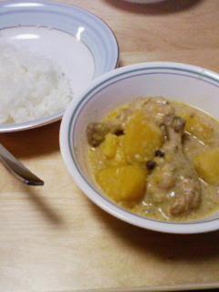 鶏肉とさつま芋のアジアンカレー
