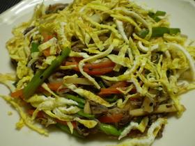 牛肉と春野菜の炒めもの