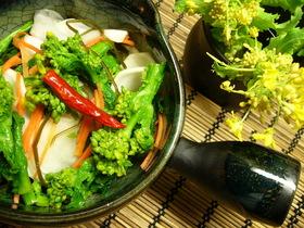 嫁レシピ♪*´∪`*菜の花とカブの浅漬け