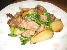 旬のお野菜と牛肉のオイスター炒め