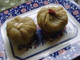 素朴な、さつま芋の茶巾絞り