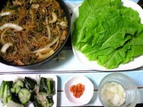 チャプチェを韓国風すき焼きのプルコギ味で