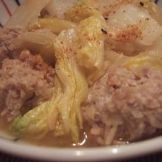 鶏団子の味噌煮