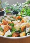 オススメ★春菊と柿カマンベールのサラダ