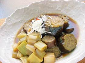 お店レシピ☆なすと長ねぎの煮物