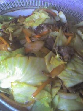 パパット簡単!!野菜と肉いため