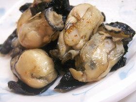 簡単!牡蠣と海苔だけ炒め