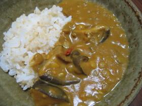 レンズ豆と干し椎茸とトマトのカレー