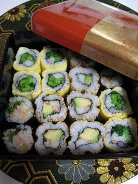 お花見弁当☆巻き寿司3種♪