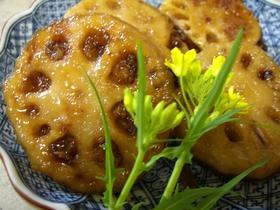 レンコンの甘辛ハンバーグ