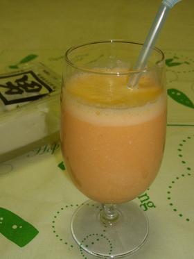 豆腐&野菜ジュースでデザート健康ドリンク