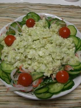 アボカドと新玉葱のサラダ