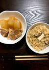 角煮の煮汁で!炊き込みご飯♡