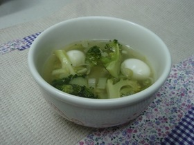 ブロッコリー&うずら卵のスープ☆