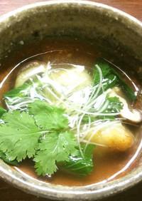 中華風鱈と白子の揚げ出しスープ