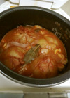 炊飯器で!丸ごと玉ねぎトマトスープ