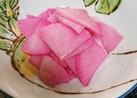 梅酢で桜大根漬け