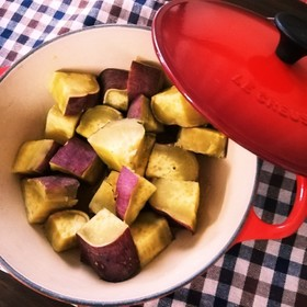 甘味凝縮!簡単!サツマイモの塩煮
