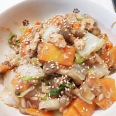 ツナとマヨポンで野菜炒め!