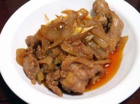 鶏肉の味噌ケチャップ炒め
