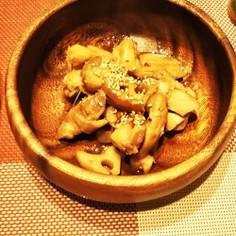 鶏肉とれんこんのピリ辛煮