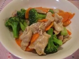 豚肉とブロッコリーのとろみ炒め