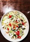 白菜で豆サラダ