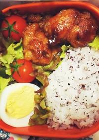 鶏の照り焼き弁当/ゆで卵/ピーマン煮浸し