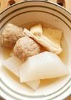 大根と、京揚げと肉団子の煮物