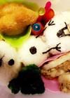 キャラ弁オラフ♪レンコンの肉詰め☆