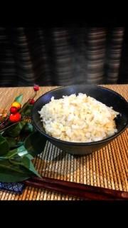 低GIの玄米でかさ増し白滝ご飯!の写真