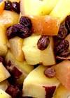 サツマイモとリンゴのレーズン煮
