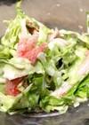 【簡単】カニカマとキャベツのサラダ