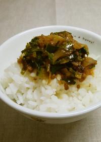 キャベツ外葉と大根皮の肉味噌炒め