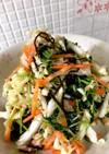 簡単!豆苗と白菜の塩昆布サラダ