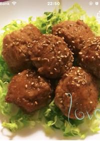 レンコン・豆腐入りつくねバーグ