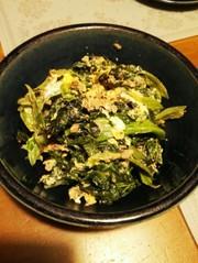 生の高菜のツナ炒めの写真