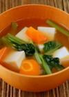 カルシウム豊富♪高野豆腐と冬野菜の味噌汁