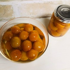 金柑の甘露煮。