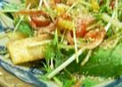 水菜とカリカリ油揚げのサラダ