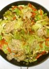 豚肉キャベツの野菜炒め♪簡単カレールー味